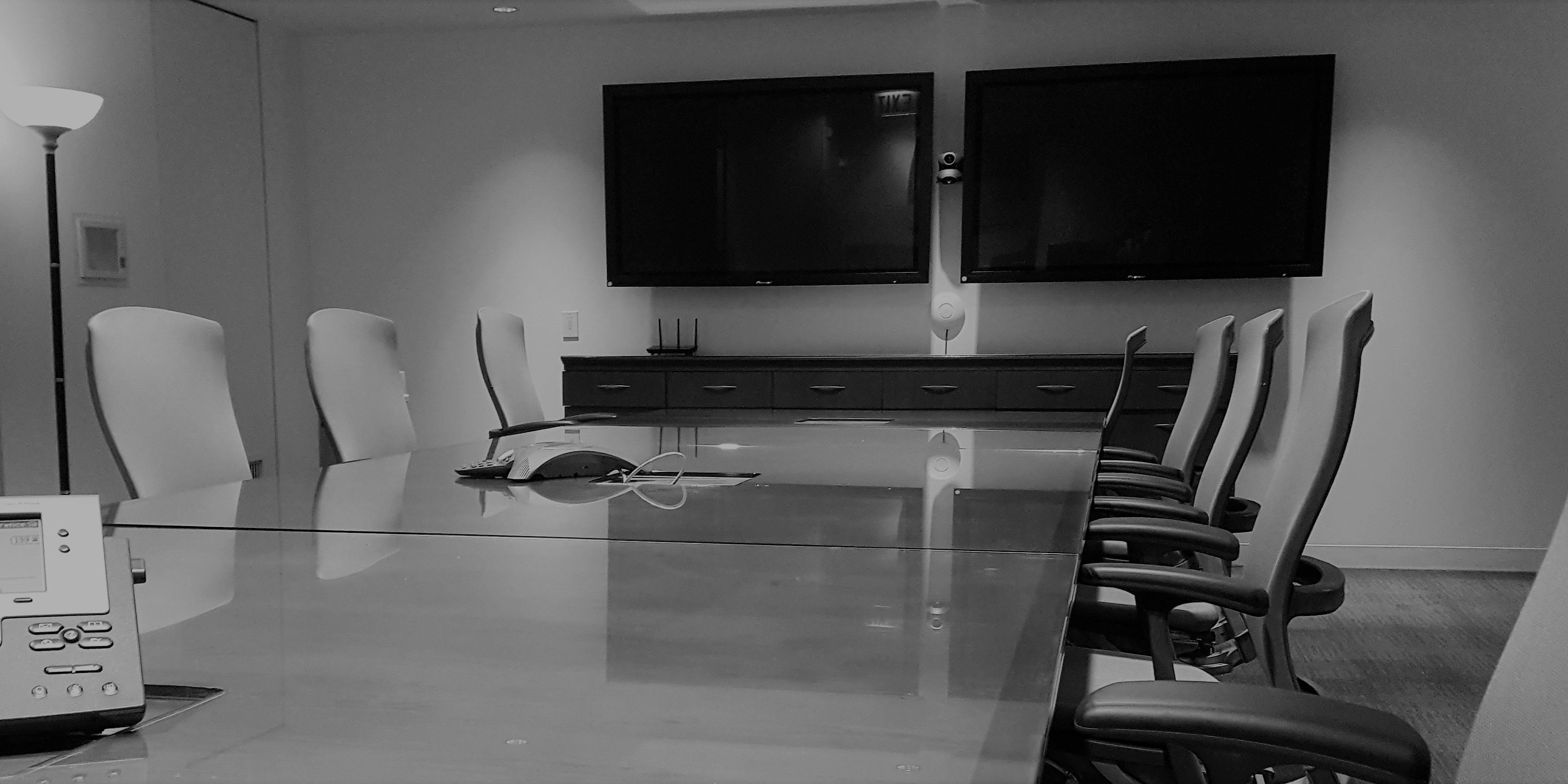 conference room black and white horizontal
